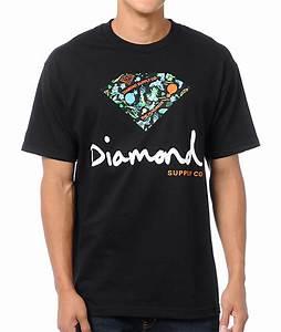 The Hundreds x Diamond Supply Logo Black T-Shirt | Zumiez