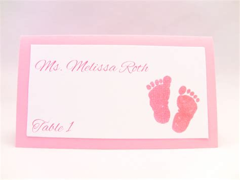 place to a baby shower customize any color 10 baby shower place cards baby