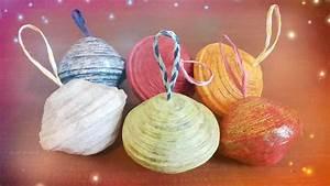 Boule En Papier : boules de no l en papier journal youtube ~ Teatrodelosmanantiales.com Idées de Décoration