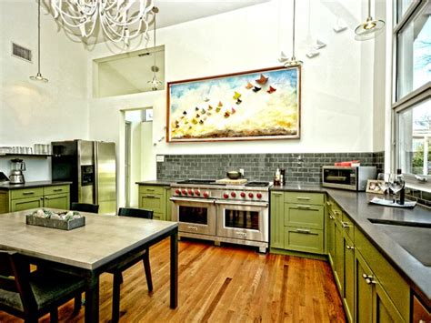 warm commercial kitchen  small austin home
