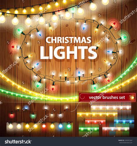 christmas lights decorations set  celebratory design