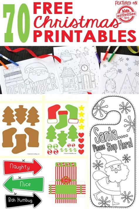 christmas printables kids activities