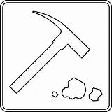 Rock Clipart Outline Geology Collecting Hammer Geologist Rocks Clip Cliparts Pile Clipartmag Library Etc Clipground sketch template