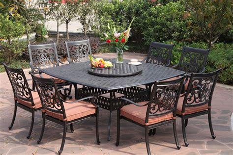 Patio Table Set by Darlee St 10 Cast Aluminum Patio Dining Set