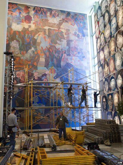Bbc News In Pictures Uns Portinari Murals Go On Tour