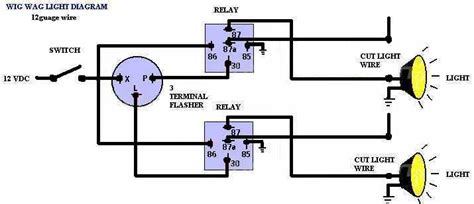 Wig Wag Flasher Relay Wiring Diagram printer friendly forum posts wig wag diagram