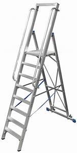 Stehleiter 8 Stufen : stufen stehleiter aus aluminium fahrbar mit gro er plattform und sicherheitsb gel 14 stufen ~ Buech-reservation.com Haus und Dekorationen
