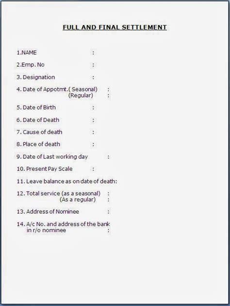 full and final settlement document