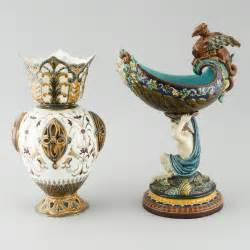 Bowl Vase by A Majolica Vase And Bowl From R 246 Rstrand Around The Year