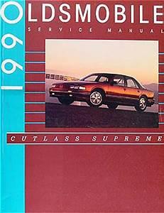 1990 Oldsmobile Cutlass Supreme Repair Shop Manual 90 Olds Original Oem