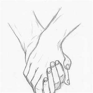 Anime Cute Couple Holding Hands Drawing - Great Drawing