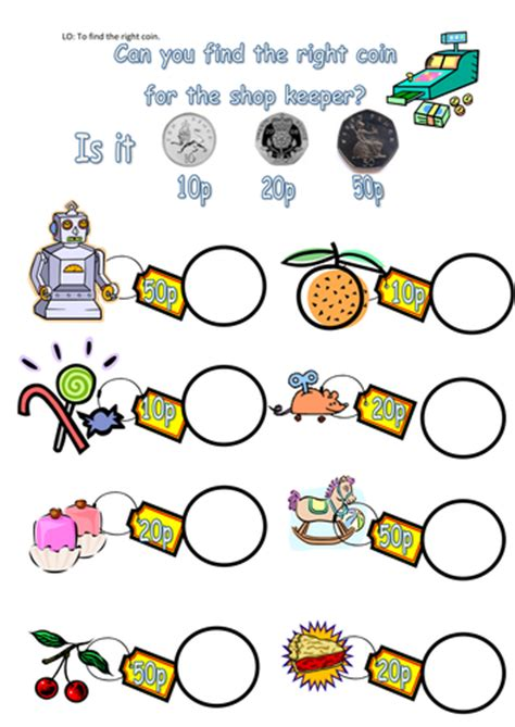 money worksheets by steffster teaching resources tes