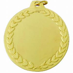 Gold Blank Medal With Wreath - Ir41g - Trophies Sports ...