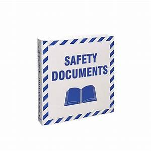Brady part br807e 45335 safety documents binder for Safety documents