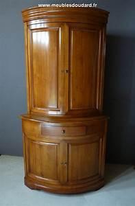 Meuble Tv En Coin : encoignure meuble de coin en merisier ~ Teatrodelosmanantiales.com Idées de Décoration