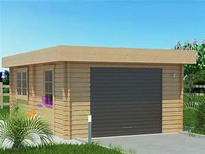 Garage Bois 20m2 : garage en bois 600x600 44mm 24m ~ Melissatoandfro.com Idées de Décoration