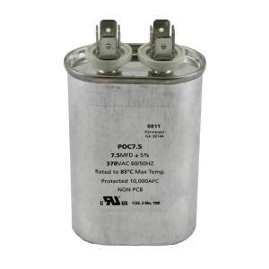 packard 370 volts motor run capacitor oval 7 5mfd