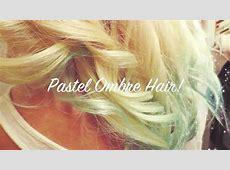 DIY Pastel Blue Ombre Hair Tutorial YouTube