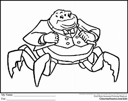 Coloring Monsters Inc Pages Monster Waternoose Random