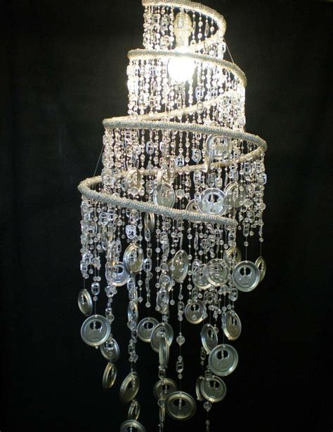 recycled tin end bead chandelier made in south africa