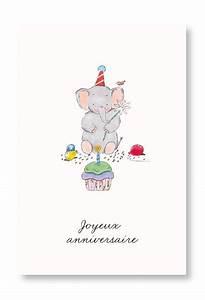 Carte Anniversaire Pour Enfant : carte joyeux anniversaire illustrations et cartes d art pour enfant ca00044 ~ Melissatoandfro.com Idées de Décoration