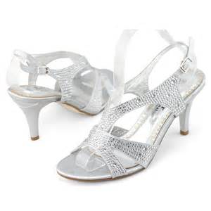 silver dress shoes for wedding shoezy new womens silver rhinestone wedding dress high heels sandals shoes ebay