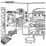 Coloring Pages Empty Printable Living Drawings Template Sketch Buzzle sketch template