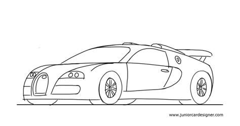 kid car drawing how to draw a sports car bugatti veyron car drawing for