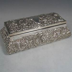 Jewellery Boxes In Antique Sterling Silver Bryan Douglas Antique Sterling Silver Jewellery Boxes