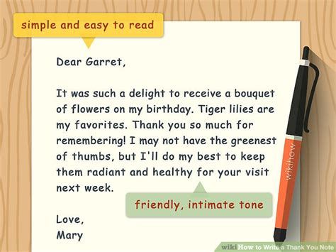how to write a thank you letter for an how to write a thank you note 9 steps with pictures 22465