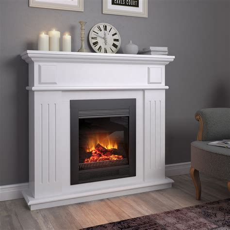 Stylish Electric Fireplaces by Mantelpiece Cottage Console For Electric Fireplaces