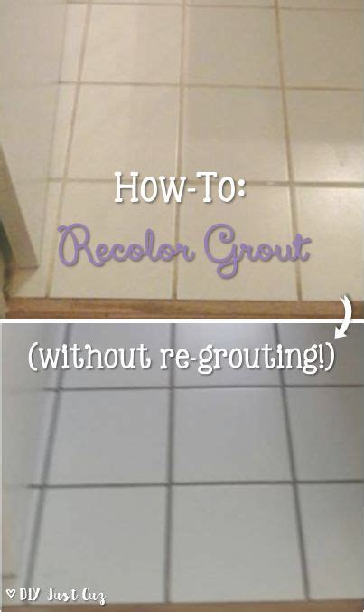 Diy Regrout Tile Floor by How To Recolor Grout Without Regrouting Grout And Simple