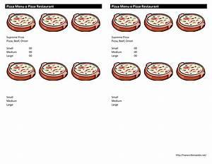 pizza menu template With pizza menu template word
