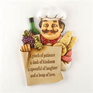 fat chef wall art plaque sign pinch of patience bistro