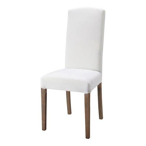 chaise blanche bois chaise en tissu et bois blanche maisons du monde
