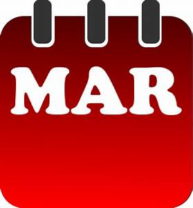 March Calendar Clip Art at Clker.com - vector clip art ...
