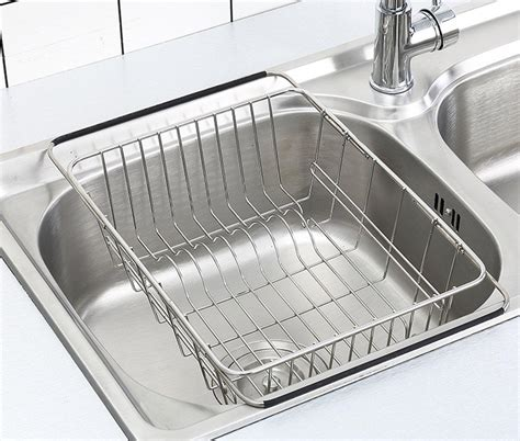 Product Of The Week Dish Rack Sink by Homlly Expandable Stainless Steel Sink Dish Drainer