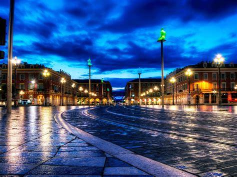 france night city roads hdr wet rain lights sky clouds roads  wallpaperscom