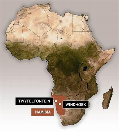 Twyfelfontein Rock Namibia Africa Generally Found Map