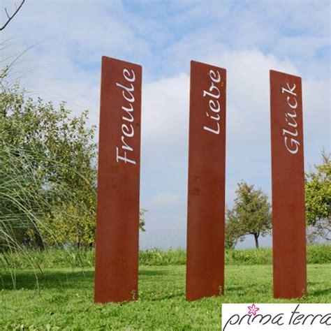 Garten Deko Le by Prima Terra Edelrost Gartenstele Gartendeko Lebensfreude