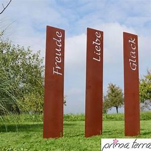Gartendeko Auf Rechnung : prima terra edelrost gartenstele gartendeko lebensfreude ~ Themetempest.com Abrechnung