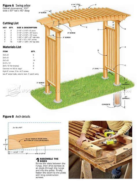Garden Arbor Plans by Garden Arbor Plans Woodarchivist