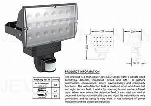 Outdoor w pir infrared motion sensor led flood lighting