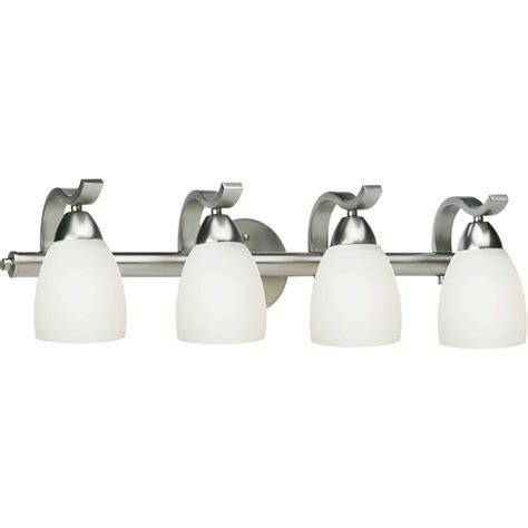 home depot bathroom vanity lights brushed nickel talista burton 4 light brushed nickel bath vanity