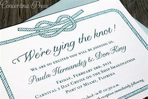 concertina press stationery and invitations tying the With wedding invitation wording samples the knot