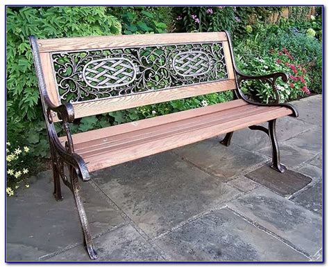 Cast Iron And Wood Garden Bench  Bench  Home Design
