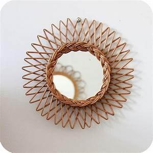 Petit Miroir Rotin : miroir osier vintage atelier du petit parc ~ Melissatoandfro.com Idées de Décoration