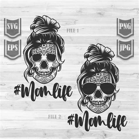 You can download a free svg under the free svg category to get reassured of our files' quality and instant delivery. Messy Bun Hair Skull Svg File Mom life svg Messy Bun | Etsy