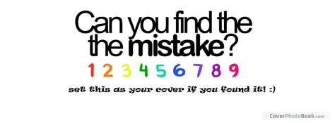 Can You Find The Mistake Facebook Cover Quotes