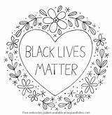 Matter Lives Pattern Embroidery Pdf sketch template
